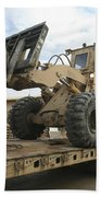 Forklift Is Unloaded Off Of A Logistics Beach Towel by Stocktrek Images