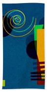 Formes - 03b Beach Towel by Variance Collections
