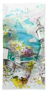 Fort And Houses In Valenca Beach Towel