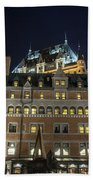 Fort  Of Quebec City At Night Beach Towel