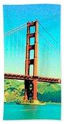 Fort Point Golden Gate Bridge Beach Towel