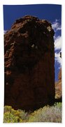 Fort Rock Twin Towers- H Beach Towel