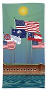 Fort Sumter, Charleston, Sc Beach Towel