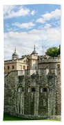 Fortress Of The Tower Of London Beach Towel