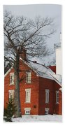 Forty Mile Point Lighthouse Beach Towel