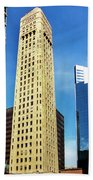 Foshay Tower From The Street Beach Towel