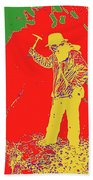 Fossil Hunter Red Yellow Green Beach Towel