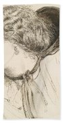 Found - Study For The Head Of The Girl Beach Towel