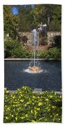 Fountain And Peppers Beach Towel