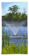 Fountain Art Beach Towel