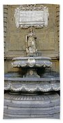 Fountain At Quattro Canti In Palermo Sicily Beach Towel