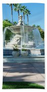 Fountain At Rio Vista Beach Towel