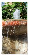 Fountain At Taliesen Beach Towel