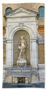 Fountain In The Vatican City  Beach Towel
