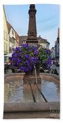 Fountain In Wertheim, Germany Beach Towel