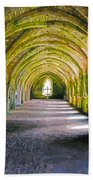 Fountains Abbey, Vaulted Chamber Beach Towel