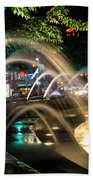 Fountains At Columbus Circle Beach Towel