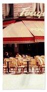 Fouquets Of Paris 1955 Beach Towel