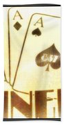 Four Aces Diner Beach Towel