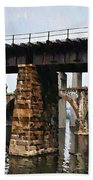 Four Bridges Of East Falls Beach Towel