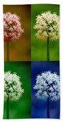 Four Colorful Onion Flower Power Beach Towel
