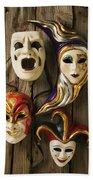 Four Masks Beach Sheet