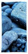 Four Rocks In Blue Beach Towel