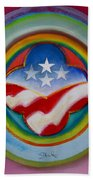 Four Star Button Beach Towel