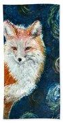 Fox Red  Painting  Beach Towel