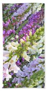 Foxglove Card Beach Towel