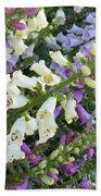 Foxglove Fancy Beach Towel