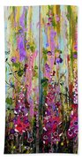 Foxgloves Large Painting Beach Towel