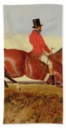 Foxhunting - Clearing A Bank Beach Towel