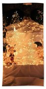 Foxy Christmas Decoration Beach Towel