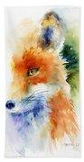 Foxy Impression Beach Towel