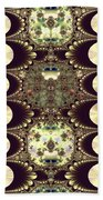 Fractal 42 Cameos In Gold And Ivory Beach Towel