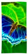 Fractal Butterfly Beach Towel