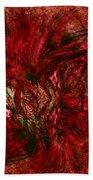 Fractal Christmas Bow Beach Towel