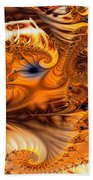 Fractal Citrus Beach Towel