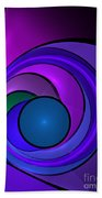 Fractal Design In Lilac, Pink And Blue Beach Towel