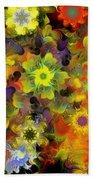 Fractal Floral Study 10-27-09 Beach Towel