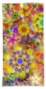 Fractal Floral Study 2 Beach Towel