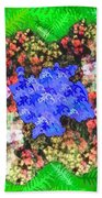 Fractal Flower Garden Beach Sheet