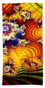 Fractal Furrows Beach Towel