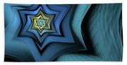 Fractal Star Beach Towel