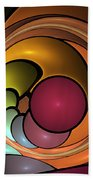 Fractal With Orange, Yellow And Red Beach Towel