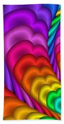 Fractalized Colors -10- Beach Towel by Issabild -