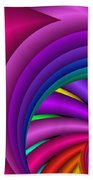 Fractalized Colors -3- Beach Towel by Issabild -