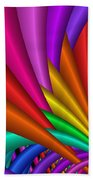 Fractalized Colors -7- Beach Towel by Issabild -