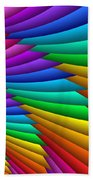 Fractalized Colors -8- Beach Towel